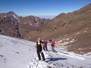 Snow towards the summit