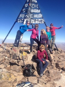 The summit of Mount Toubkal 4167m high